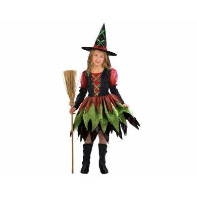 Hexe - Kinderkostüm Fetzenhexe mit Hut - Karneval Fasching   655849760 / EAN:8422562360613
