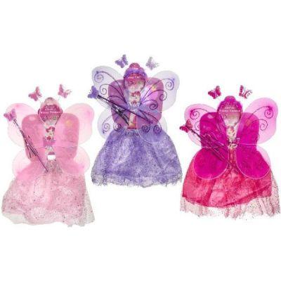 Kinderkostüm - Fee - Set mit viel Zubehör - 3 Farben | HM47426 / EAN:5413247006332