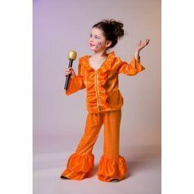 Kostüm - Disco-Feger - für Kinder - Gr. 128 - FlowerPower   FM11822028(26) / EAN:4007487114585