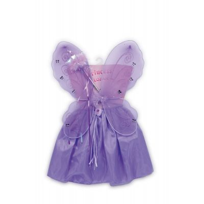 Kostüm Fee Lili - Rock, Flügel, Zauberstab - lila - Einheitsgröße | LG5764 / EAN:4020972057648