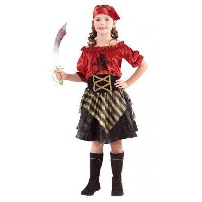 Piratin Lola - Kinderkostüm - Einheitsgröße 7-9 Jahre  | HM51851(ST) / EAN:8712026876089