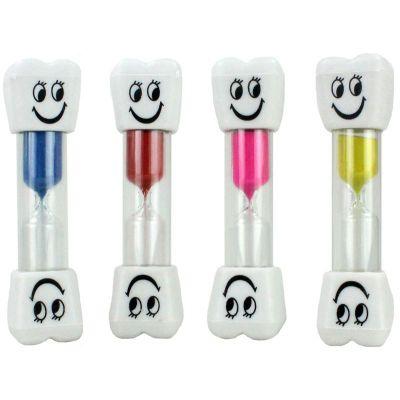 Sanduhr - Zahnputzuhr - Zahnform gelb blau rot oder pink | HM42899 / EAN:5413247099709