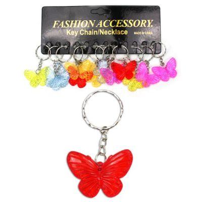 Schlüsselanhänger Schmetterling - transparente Farben  | HM12962 / EAN:5413247090379