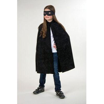 Umhang mit Stehkragen für Kinder - schwarzes Cape   655852430 / EAN:4007487120043