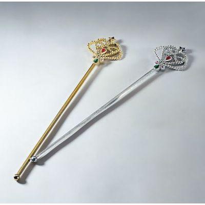 Zauberstab - Zepter - gold oder silber | 389917241 / EAN:4007487950626