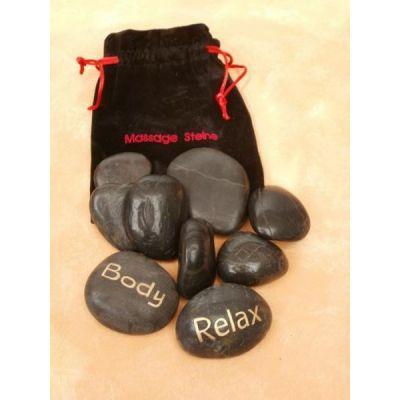 Massage Steine im Beutel 9er Set | 305 / EAN:4019581536224