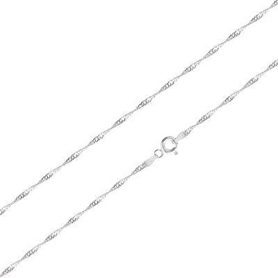 1,5mm Singapurkette aus 925 Silber, Anhängerkette 45cm | Sng2 / EAN:4250887404415