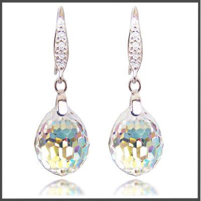925 Silber Ohrhänger Tear Drop Kristall von Swarovski® | Fi-OH31-PD19-AB / EAN:4250887400332