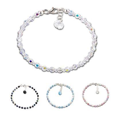 Funkelndes Armband aus 4mm Swarovski® Kristallperlen | S-K-A04V / EAN:4250887404187