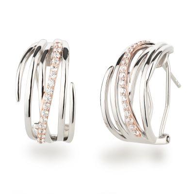 Halb-Creolen Stecker Omegaverschluss 925 Silber Ohrringe | Co-OCS03 / EAN:4250887408079