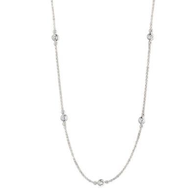 Halskette aus 925 Silber Rhodium mit Zirkonia | Ca-HK104 / EAN:4250887407201