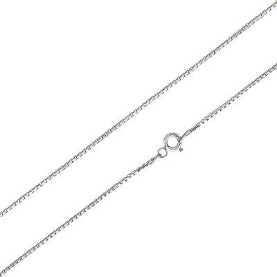 Kinderkette Venezianerkette diamantiert 1,1mm aus 925 Silber Rhodium kurze Kette 38cm | VZD11RHKi / EAN:4250887406136
