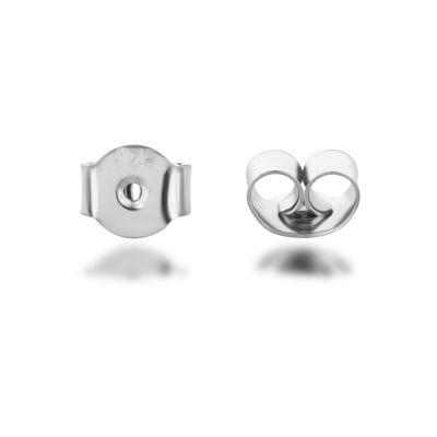 Ohrmutter Verschluss für Ohrstecker 925 Silber 2 Stück | Zub-OSV-05 / EAN:4250887406549