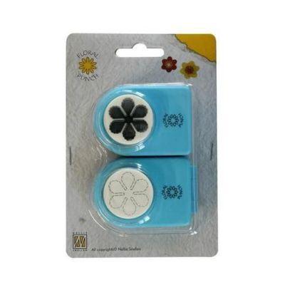 2 Motivlocher Stanzer Floralpunch Motivstanzer Blume mittel 24mm | 115635/9682 / EAN:8717825162579