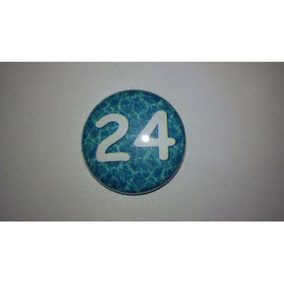 24 Buttons 25mm für Adventskalender 1-24 | Button 9