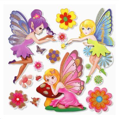 3 D Sticker Elfen 2 XXL 30x30 cm | 3452529