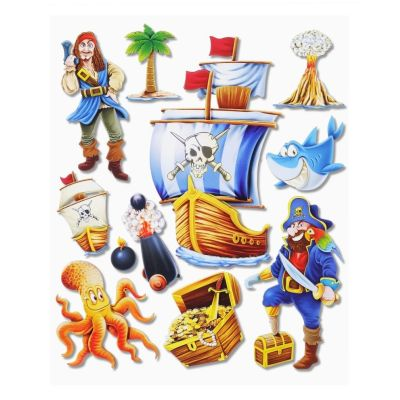 3 D Sticker Piraten XXL 30x30 cm | 3452500