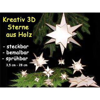 3D Holzsterne individuell bemalbar verschiedene Größen   89392411