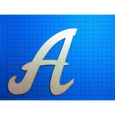 ABC Holz Großbuchstaben Schreibschrift 150mm natur | ACH 15G-Z