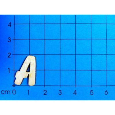 ABC Holzbuchstaben natur Kleinteile gelasert 19mm | ABH19-A