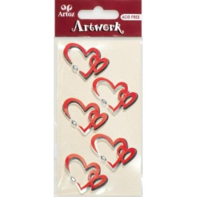 Art-Work: Zwei Herzen Sticker | 185570-31 / EAN:7612996616238