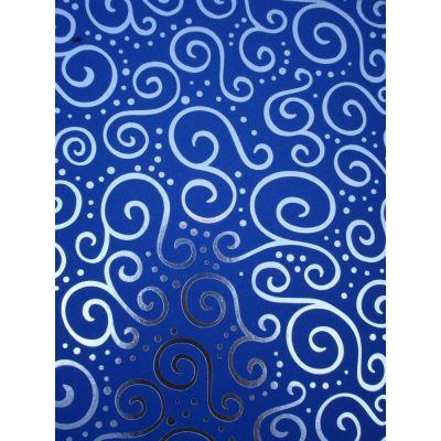Bastel-Karton Milano Elegance A4 blau silber | 20-4772683 / EAN:4005329726835