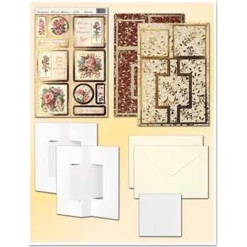 Bastel-Set Faltkarten 1, Blumen | 30364