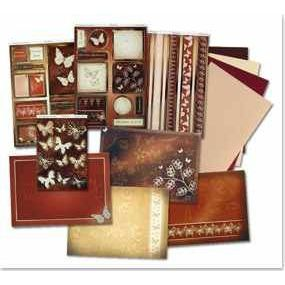 Bastel-Set Kartenset DeLuxe Schmetterlinge 1   30360