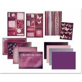 Bastel-Set Kartenset DeLuxe Schmetterlinge 4, lila-flieder   30363