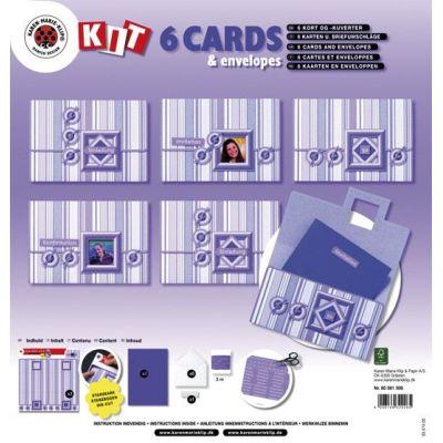 Bastelset: 6 Karten und Kuverts, flieder + Zubehör | 8056 1308