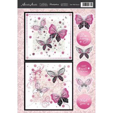 Bastelset zur Grußkartengestaltung Schmetterling | 19100039 / EAN:5052339107399