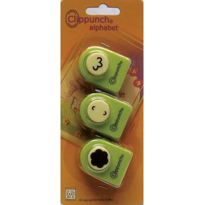 Clippunch set alphabet flower 3 Stück Stanzer | 115635/9721 / EAN:8717825164382