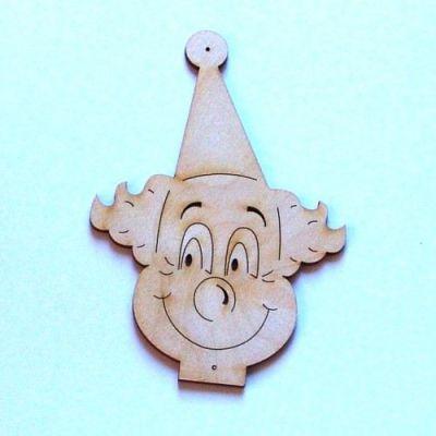 Clowngesicht mit Mütze 90mm | CCH4609