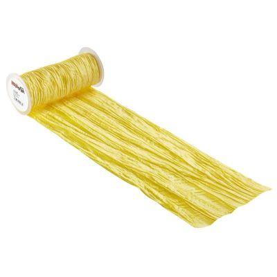 CREApop® Fripe Dekoband 20 cm x 10 m, gelb | 3980464