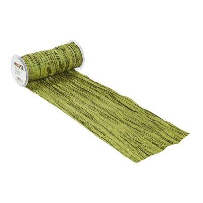CREApop® Fripe Dekoband 20 cm x 10 m, olive   3980452