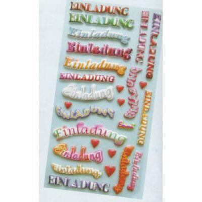 CREApop® Softy-Sticker Einladung | 3451141