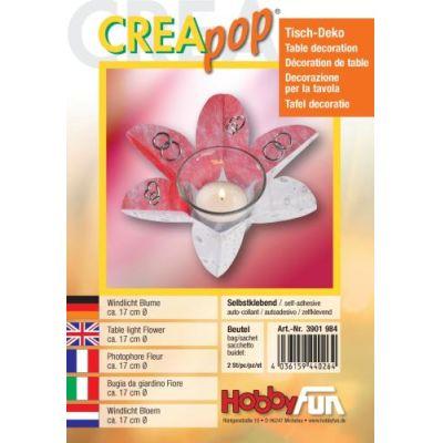 CREApop®Windlicht Blume Btl. 2 St. | 3901984