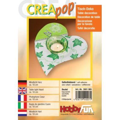 CREApop®Windlicht Herz Btl. 2 St | 3901985