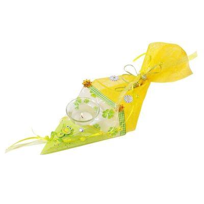 CREApop® Windlicht Schultüte 17 x 6,5 cm | 3901732 / EAN:4036159455787