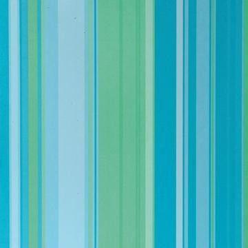 Dekoratives Papier blau-grün gestreift 30,5X30,5 cm   117010/0068