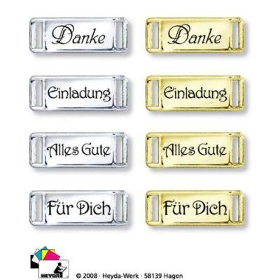 Dekoschnalle Alles Gute silber | 20-4883492