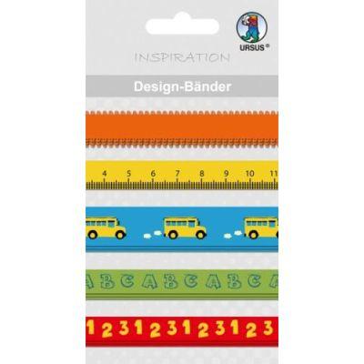 Designbänder 5 x 90 cm Schule | 74510013