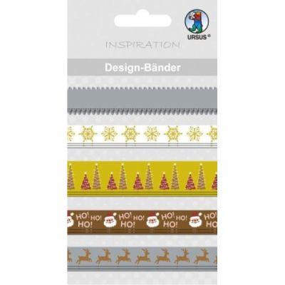 Designbänder 5 x 90 cm Weihnachten klassik braun/creme Töne | 74510016