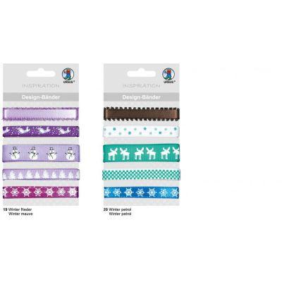 Designbänder 5 x 90 cm Winter flieder | 74510019
