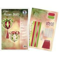 Designstreifen Mini Paper Balls Classic Ornaments | 24100099
