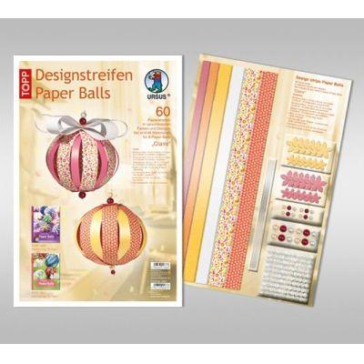 Designstreifen Paper Balls Set Claire | 23400099
