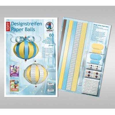 Designstreifen Paper Balls Set Emily | 23430099