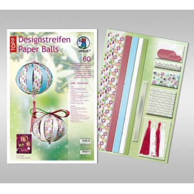 Designstreifen Paper Balls Set Jolly Christmas | 23500099