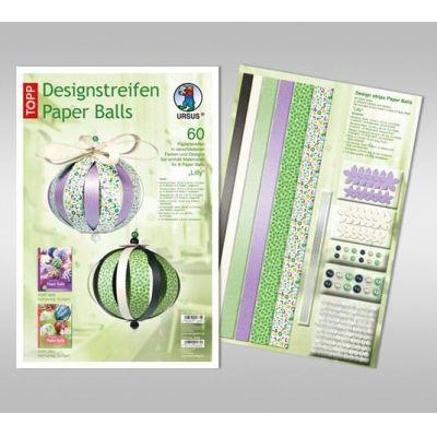 Designstreifen Paper Balls Set Lilly | 23420099