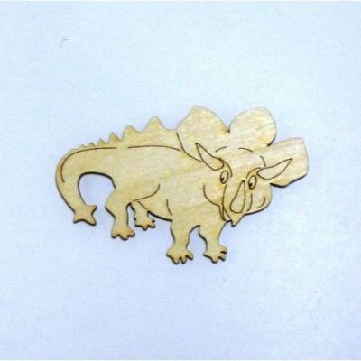 DINOSAURIER Triceratops aus Holz | DSH 3712